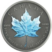 Canada WINTER - FOUR SEASONS Canadian Maple Leaf $5 Silver Coin 2020 Antique finish 1 oz